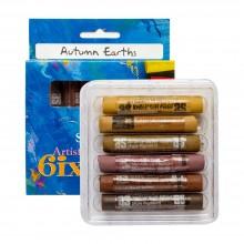 Art Spectrum : Soft Pastel : Set of 6 : Autumn Earths