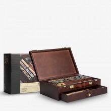Talens : Rembrandt Watercolour Paint : Master Set : 42 Half Pan Wooden Box Set