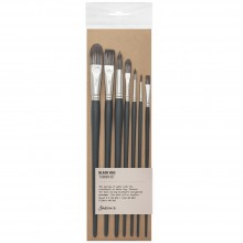 Jackson's : Black Hog Bristle Brush : Set of 7