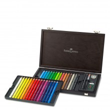 Faber Castell : Albrecht Durer Magnus : Watercolour Pencil : Wooden Case Set Of 30