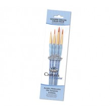 Royal & Langnickel : Gold Nylon Round Brush Set