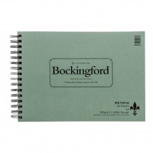 Bockingford : Spiral Fat Pad : 300gsm : A4 : 25 Sheets : Rough