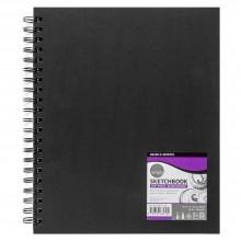 Daler Rowney : Spiral Bound Sketchbook : Black : 8.5x11in : 100gsm : 80 Sheets