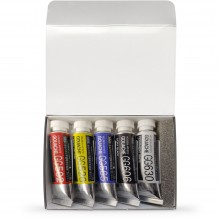 Holbein : Artists' : Gouache Paint : 5ml : Intro Set of 5