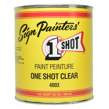 One Shot Clear Quart (US) - 946ml : By Road Parcel Only