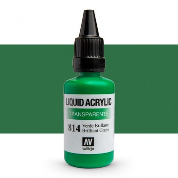 Vallejo : Liquid Acrylic Paint : 32ml : Brilliant Green