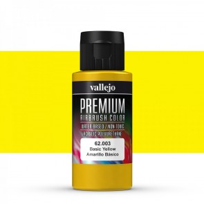 Vallejo : Premium Airbrush Paint : 60ml : Basic Yellow