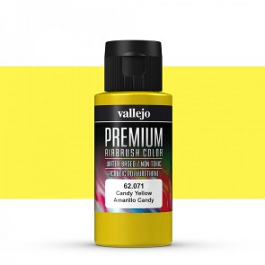 Vallejo : Premium Airbrush Paint : 60ml : Candy Yellow Transparent
