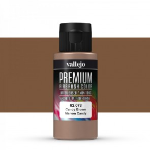 Vallejo : Premium Airbrush Paint : 60ml : Candy Brown Transparent