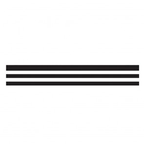 Finesse : Pinstriping Tape : F-27 : 2.38mm Stripe, 1.58mm Space, 1.58mm Stripe, 1.58mm Space, 1.58mm Stripe