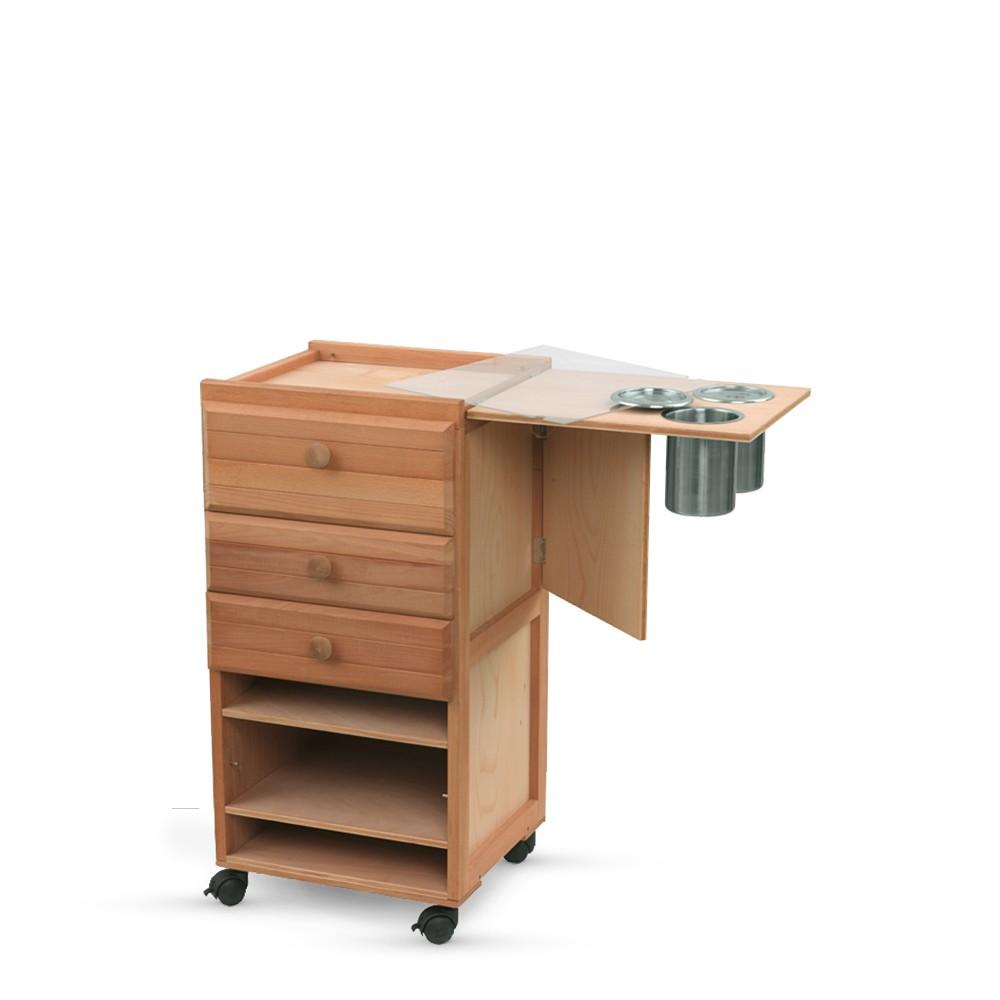 Jullian : Studio Cabinet With 3 Drawers : Beechwood