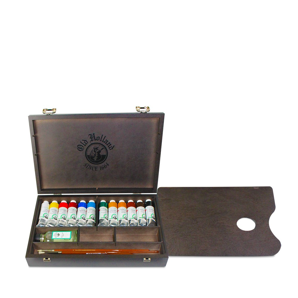 Old Holland : Classic Oil Paint : 40ml : Wooden Box Set of 12