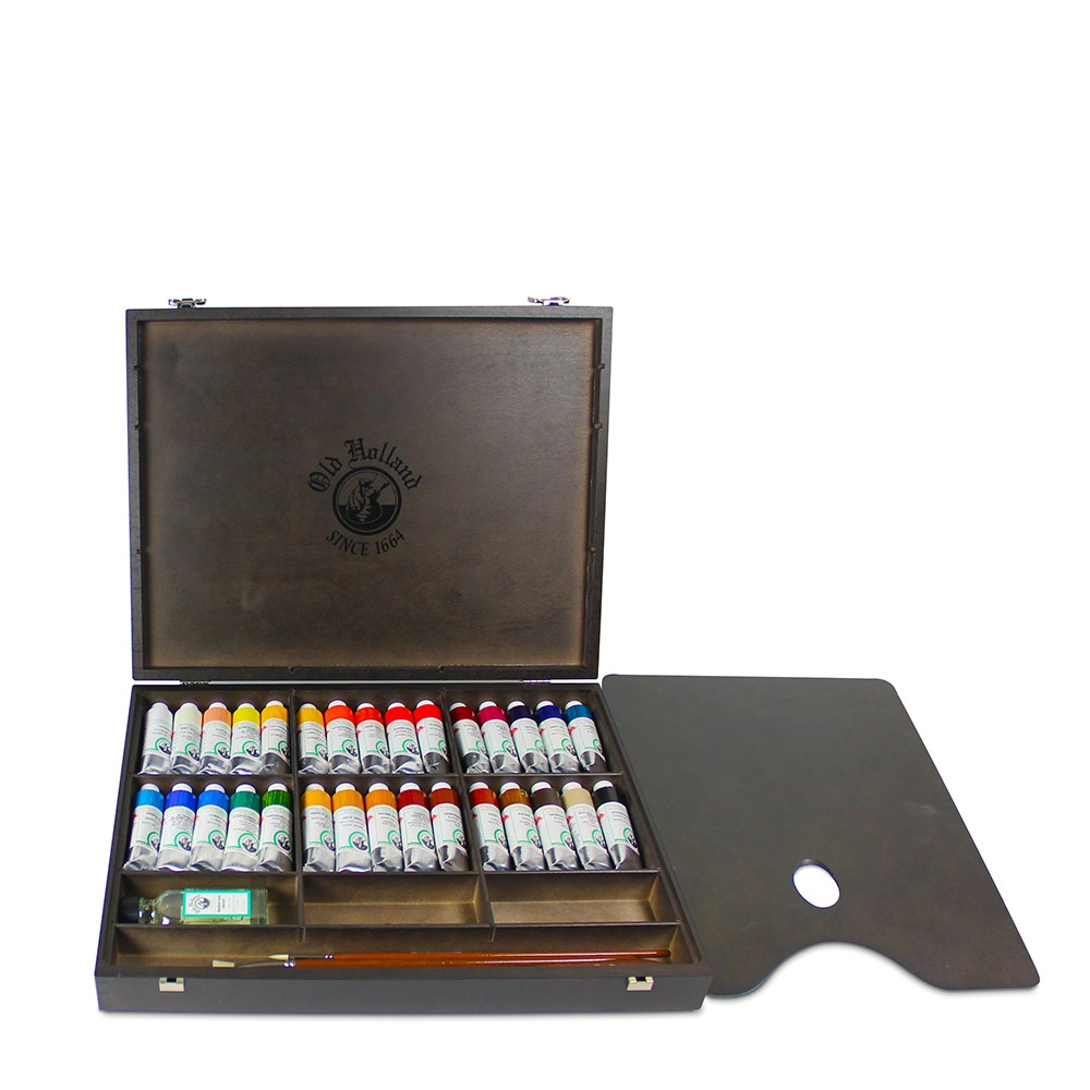 Old Holland : Classic Oil Paint : 40ml : Wooden Box Set of 30