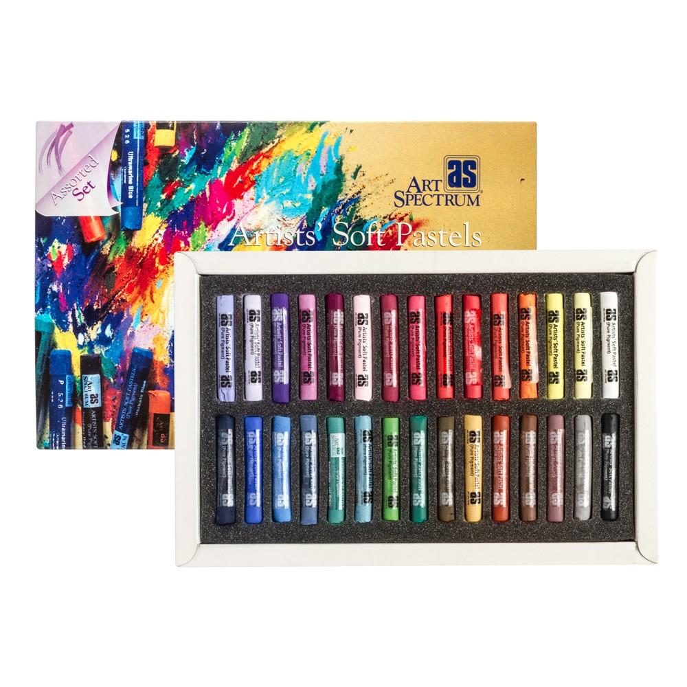 Kunst-Spektrum: Weiche Pastell Set 30 volle Stick Assorted