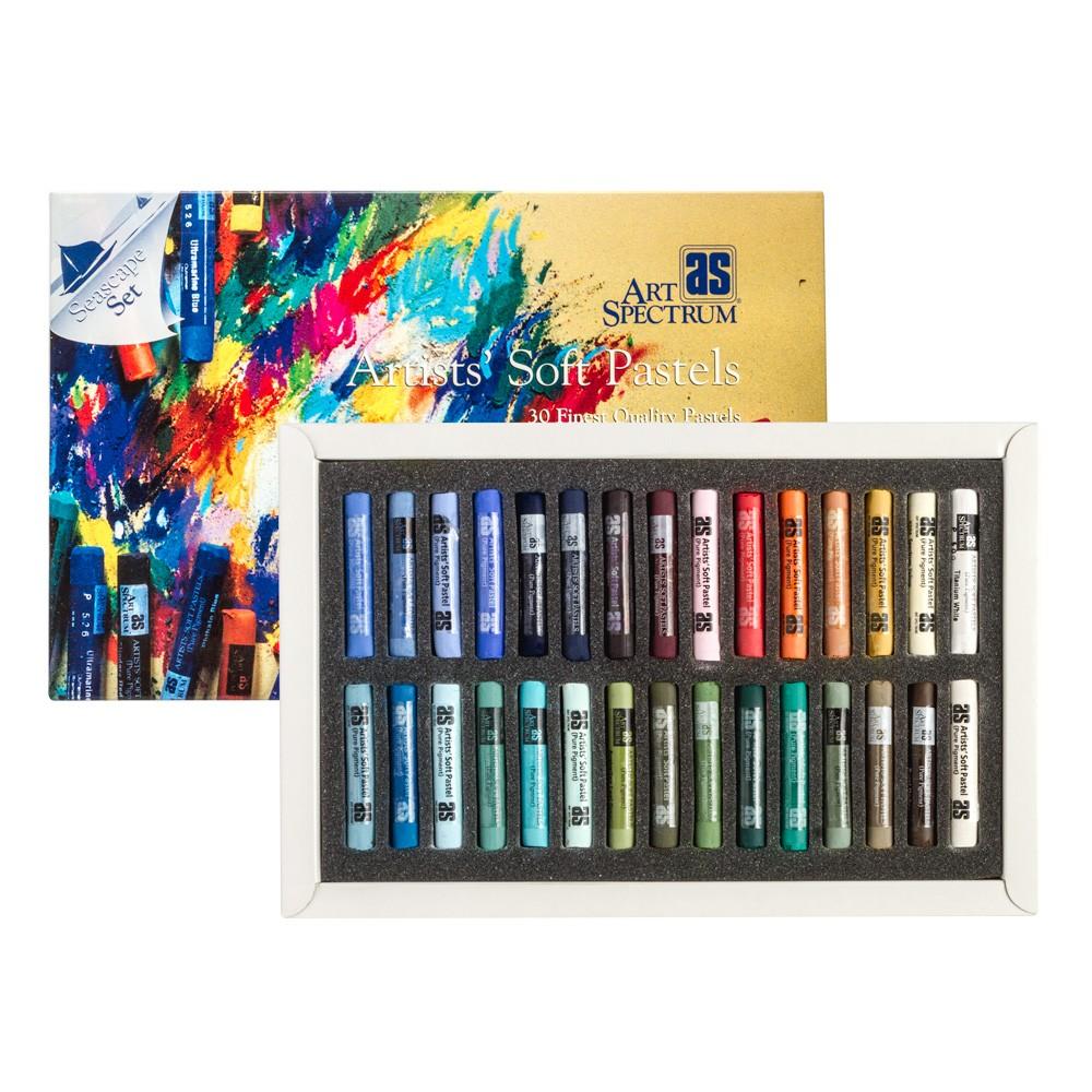 Kunst-Spektrum: Weiche Pastell Set 30 volle Stick seelandschaft