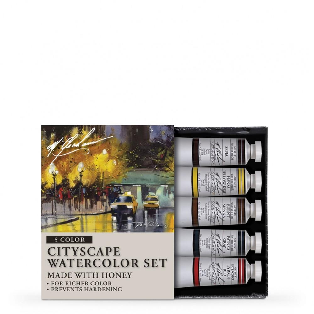 M. Graham : Artists' Watercolour Paint : 15ml : Cityscape Set of 5