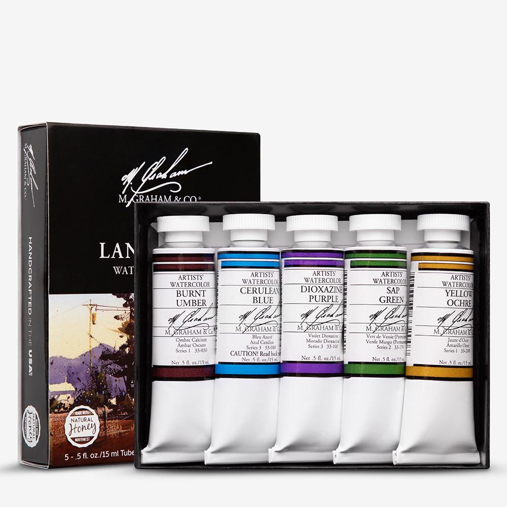 M. Graham : Artists' Watercolour Paint : 15ml : Landscape Set of 5