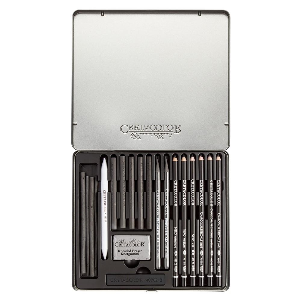 Cretacolor: 20 Black Box Set Kohle