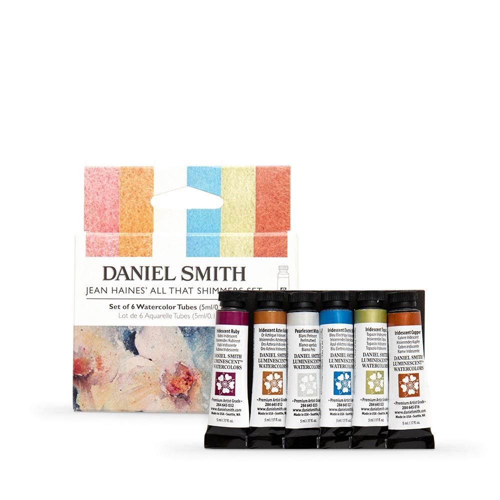 Daniel Smith : Aquarellfarbe : 5ml : Jean Haines' All That Shimmers Set, 6 Stück