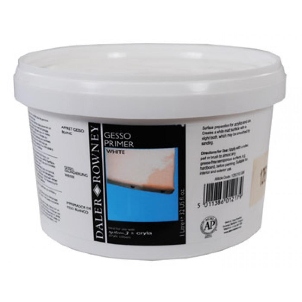Daler Rowney : Acrylic Medium : Gesso Primer : 1 Litre : White