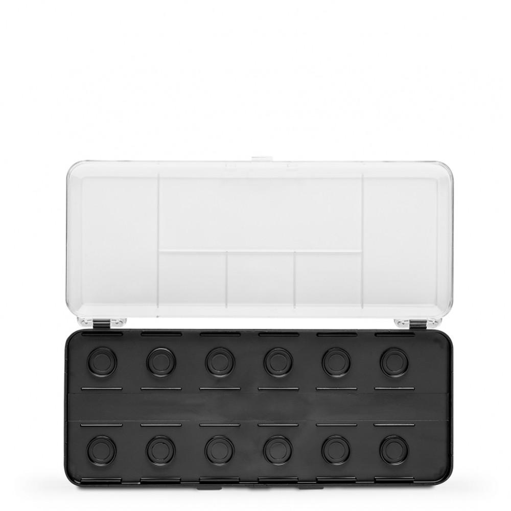 FineTec : Empty Plastic Watercolor Box : Holds 12 30mm Coliro Refills