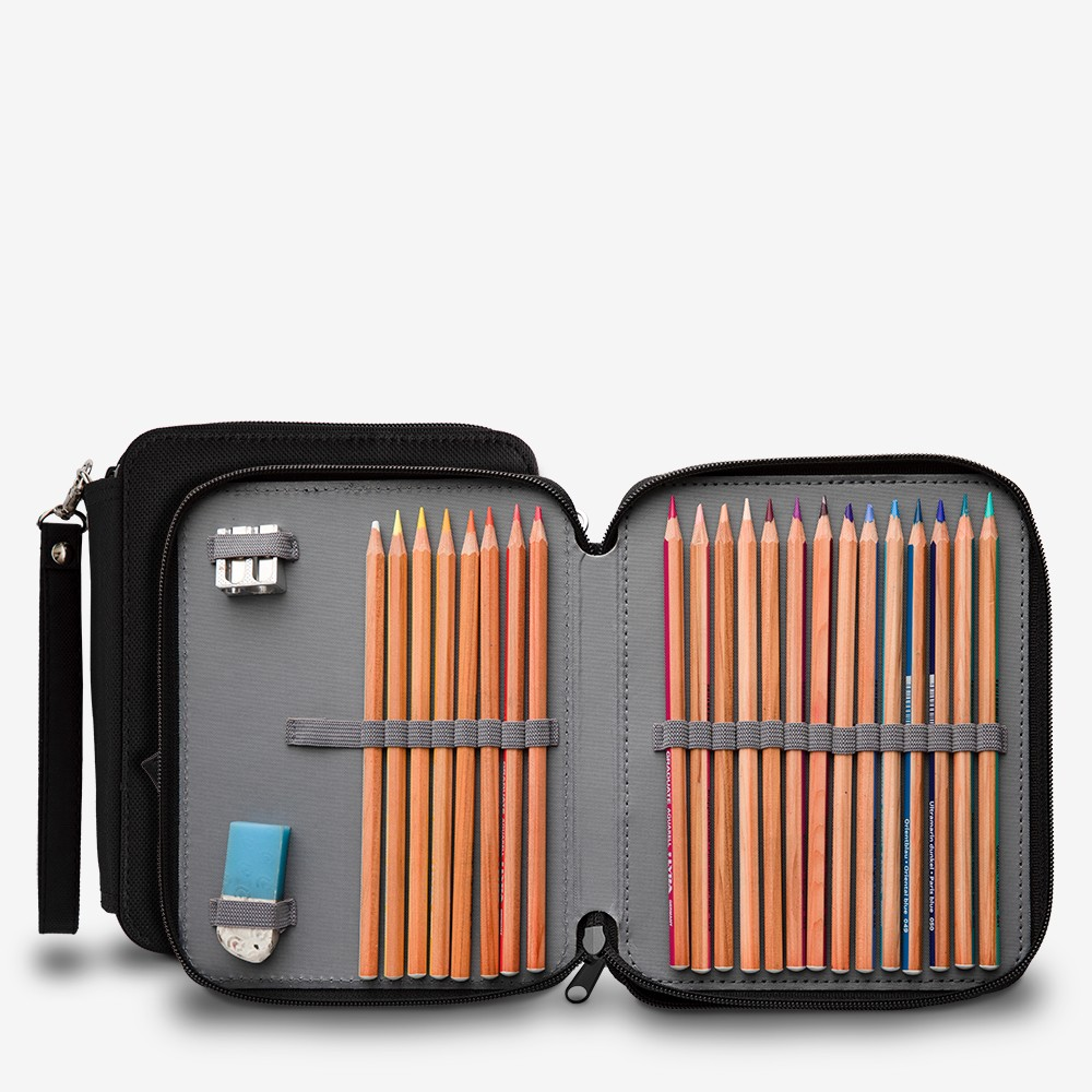 Jackson's : Black Pencil Case : Holds up to 76 Standard Pencils