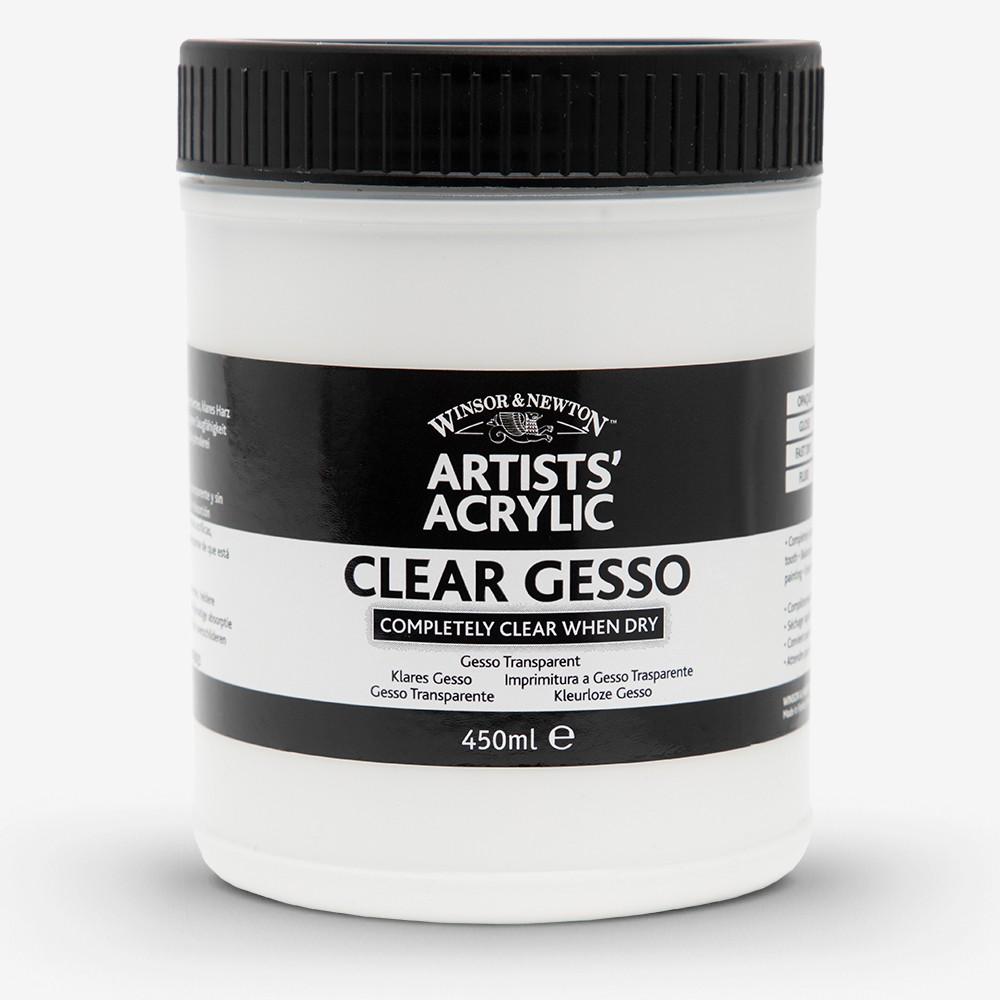 Winsor & Newton : Professional : Acrylic Medium : Clear Gesso Primer : 450ml