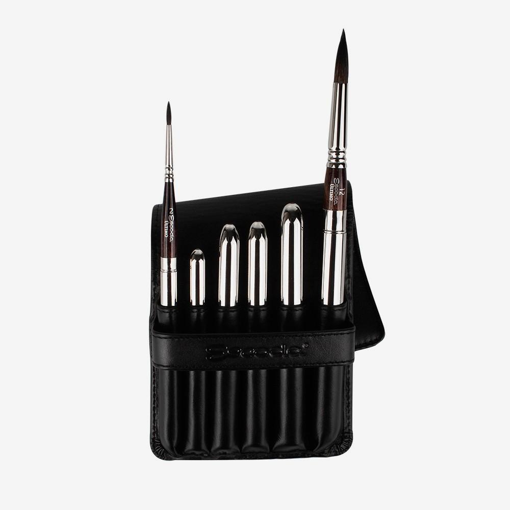 Escoda : Watercolour Travel Brush Set : Ultimo : Series 1245 : Set of 6