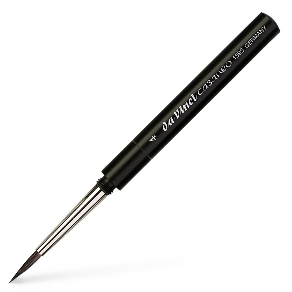 Da Vinci : Casaneo : Synthetic Watercolour Travel Brush : Series 1593TP : Size 4