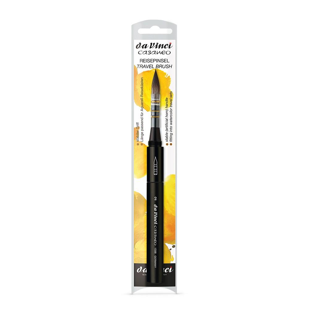 Da Vinci : Casaneo : Synthetic Watercolour Travel Brush : Series 1598TP : Quill : Size 2
