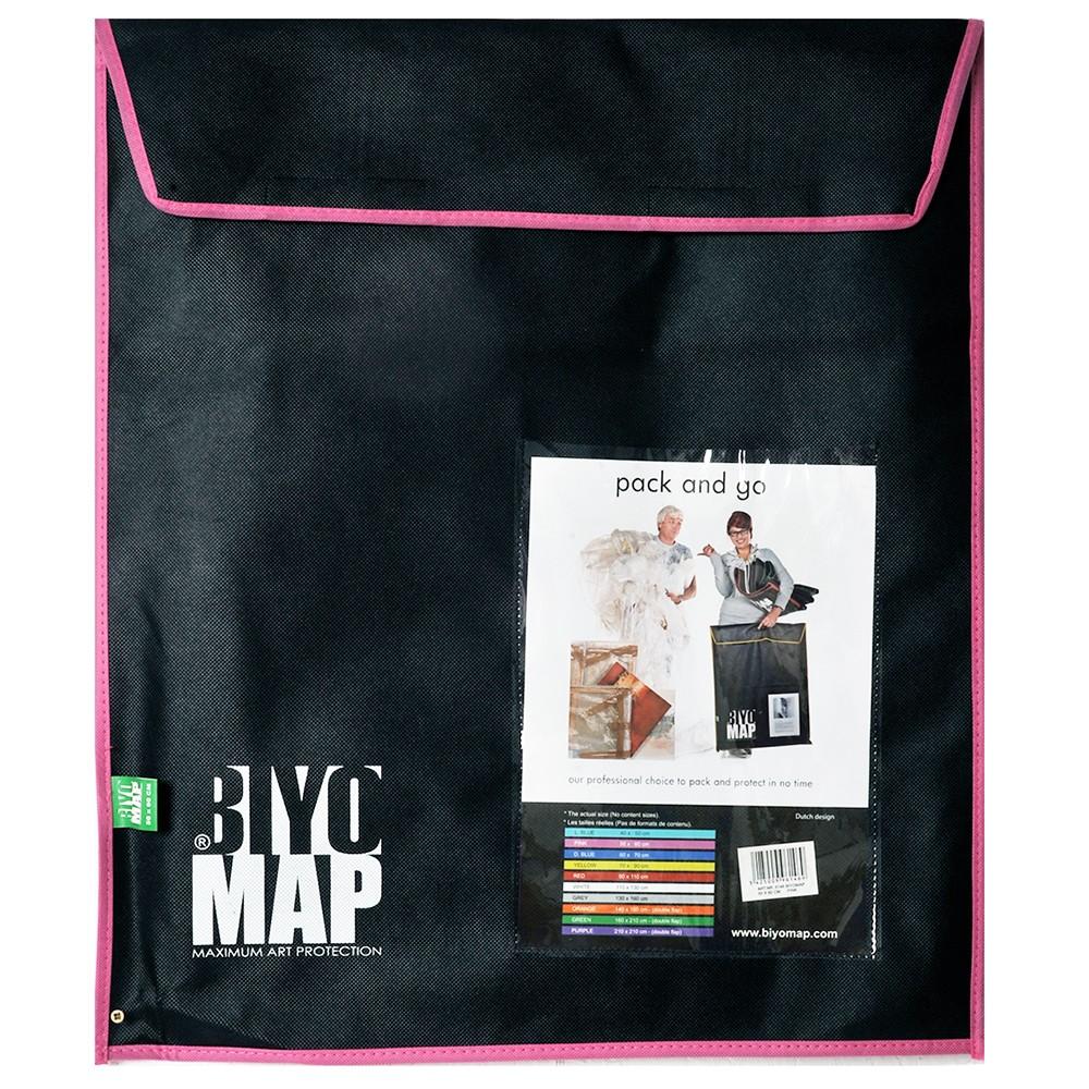 Biyomap : Reusable Artwork Shipping and Storage Bag : 50x60cm (Pink)