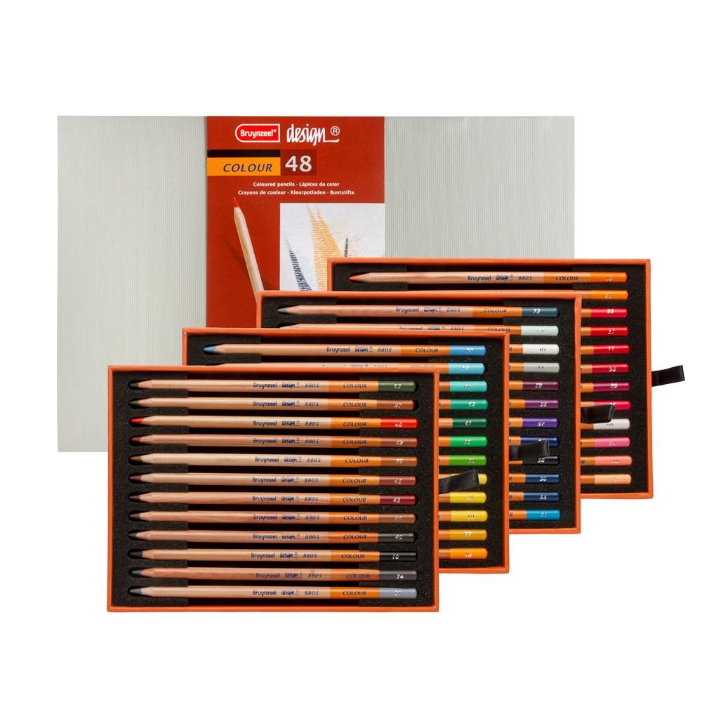Bruynzeel : Design : Colour Pencil : Box of 48 : Assorted Colours