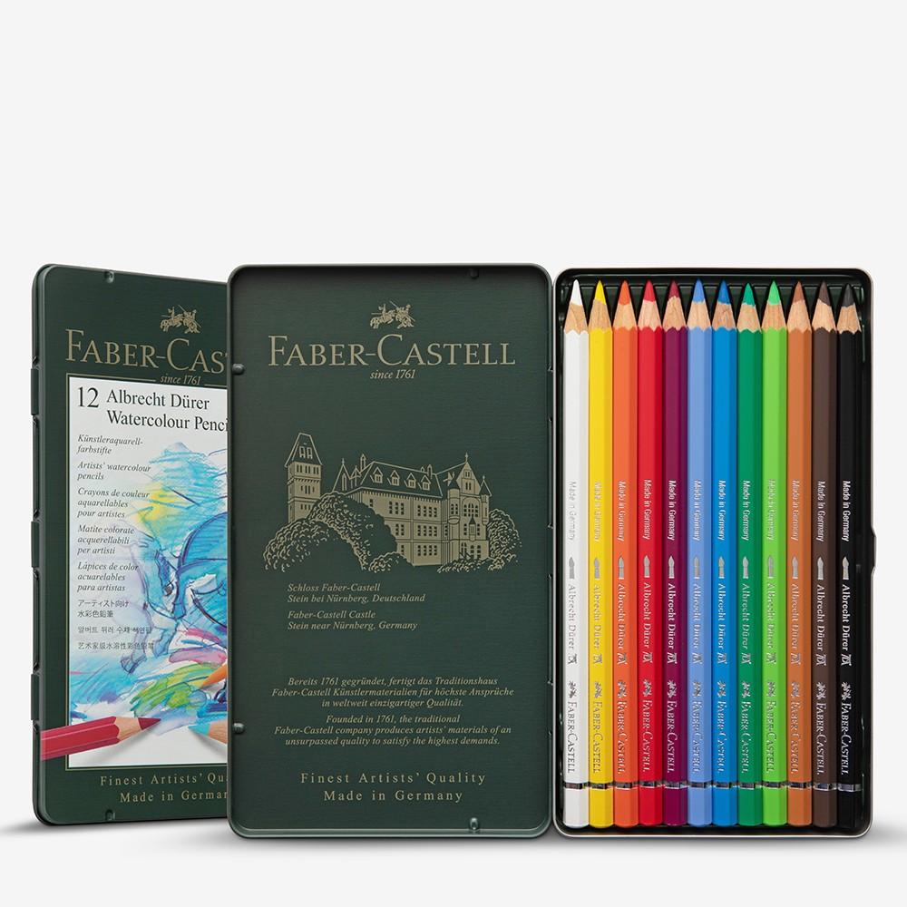 Faber Castell Albrect Durer Aquarell Bleistift Set von 12 in der Metall-Dose
