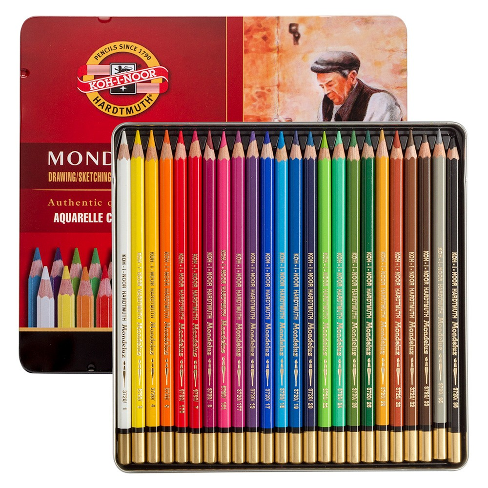 Koh-I-Noor: Mondeluz Satz von 24 Aquarell Coloured Pencils 3724