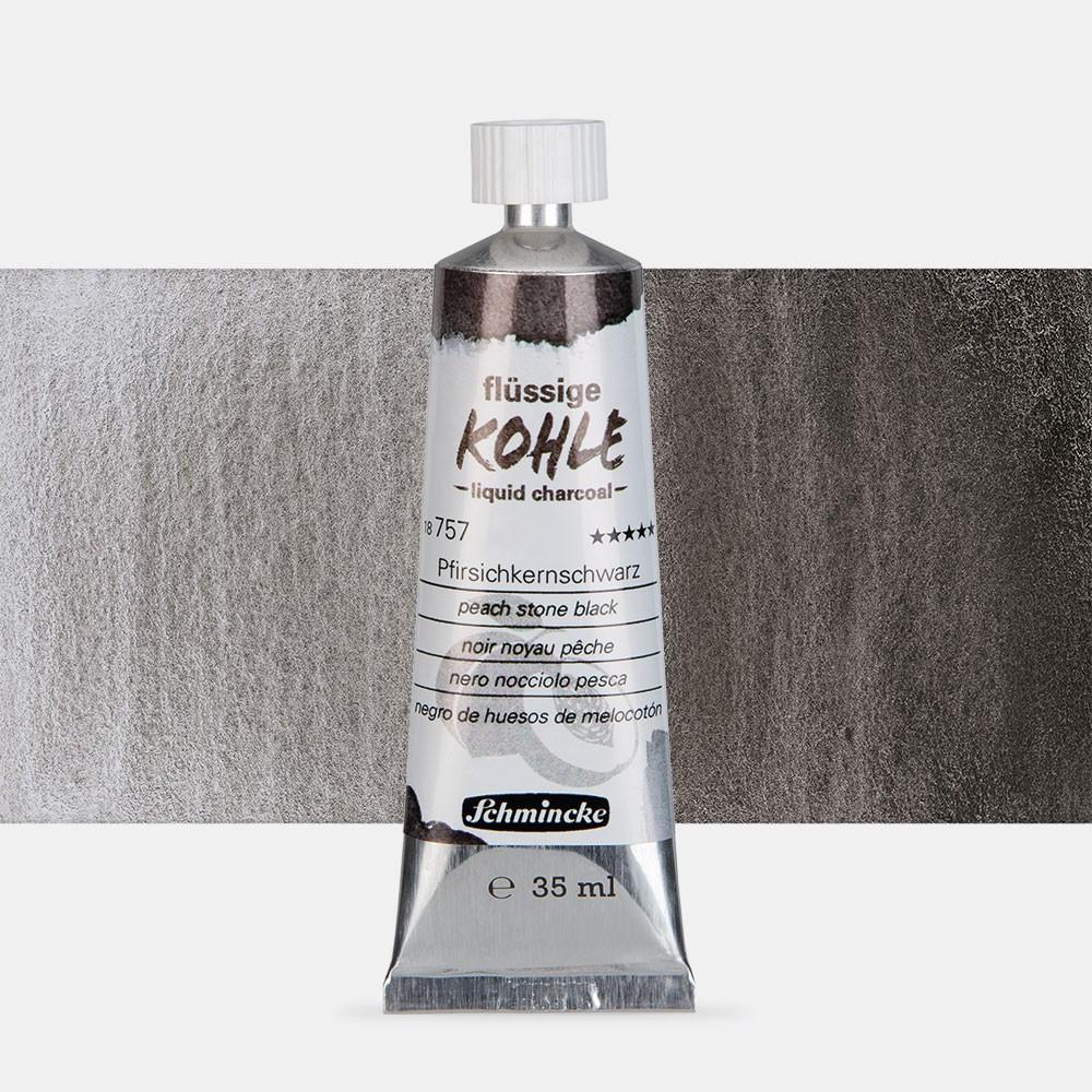 Schmincke : Liquid Charcoal : 35ml : Peach Stone Black