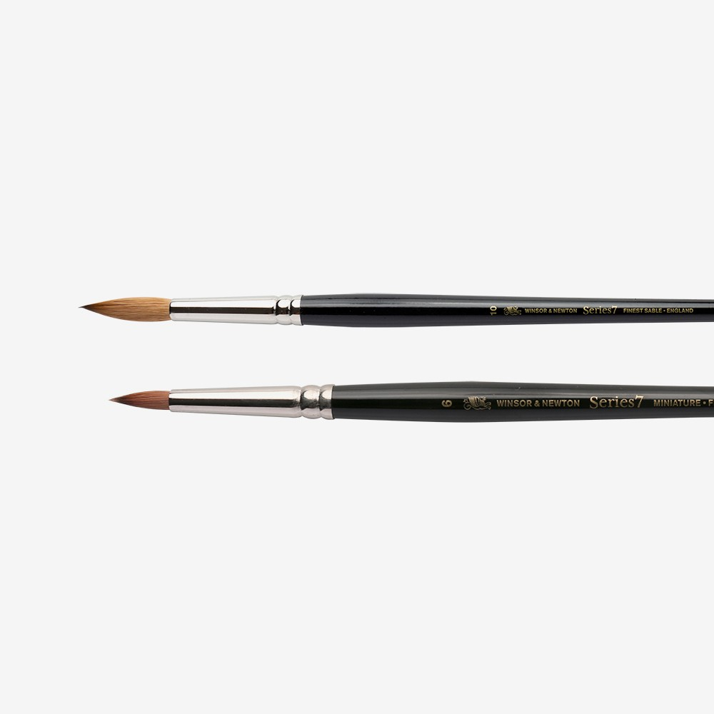 Arches Pure Kolinsky Red Sable Brushes Pointed Round Size 10