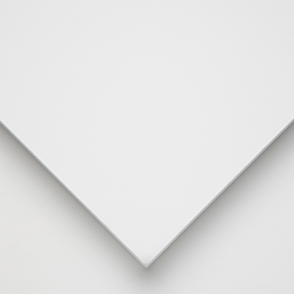Halbmond Art Foam Board: White Multi laminiert: 10mm: 19.5x27.5 cm