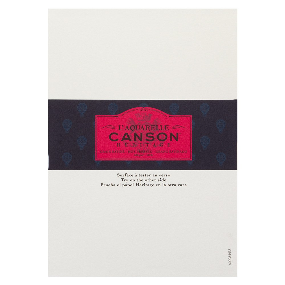 Canson : Heritage : Watercolour Paper : A5 : 300gsm : Hot Pressed : Sample : 1 Per Order