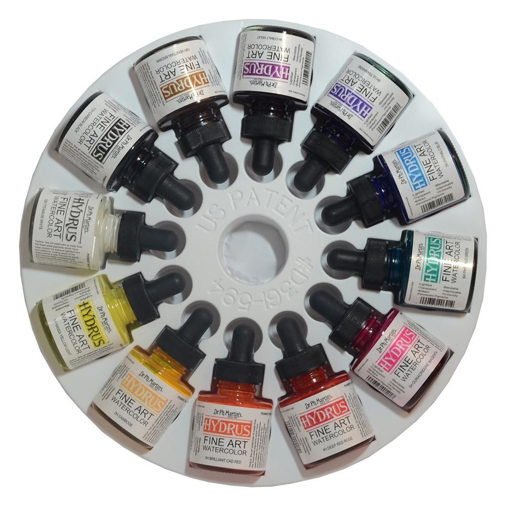 Dr. Martins Hydrus: SET 1 (1H - 12H) 12 x Liquid Aquarell: 30ml