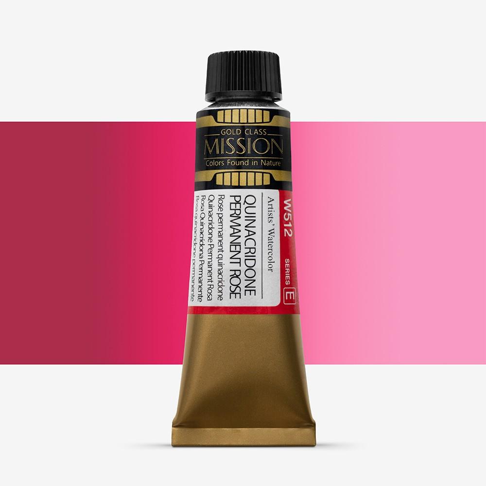 Mijello : Mission Gold : Watercolour Paint : 15ml : Permanent Rose