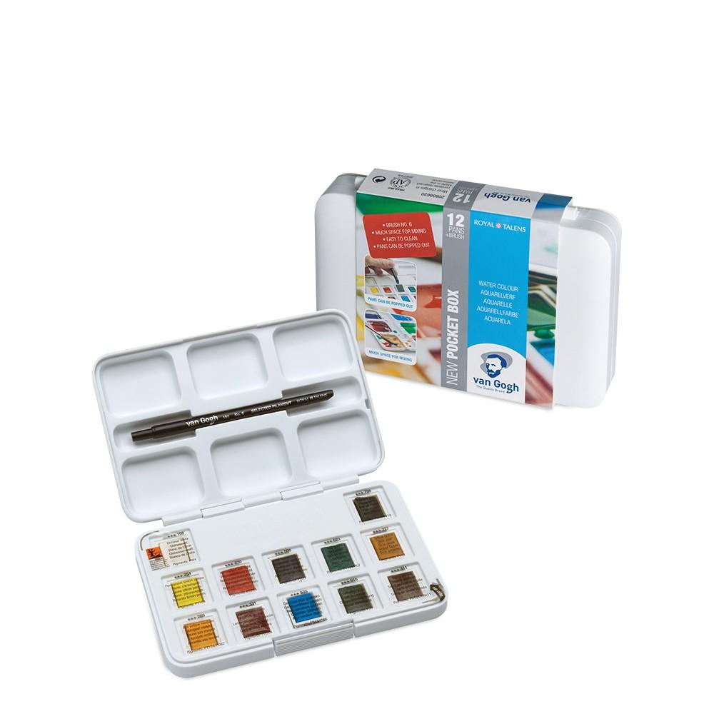 Royal Talens : Rembrandt : Aquarellfarbe : Halbnapf : Pocket Box 12er-Set