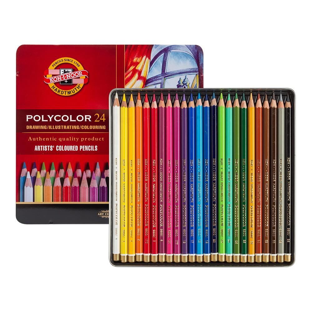 Koh-I-Noor: Becherfärbeapparat Set von 24 Künstler Coloured Pencils 3824
