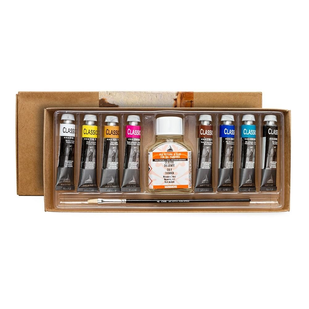 Maimeri Classico feine Öl Farbe: Set 6 x 20ml-Tuben-Farben 018-116-161-256-307-392
