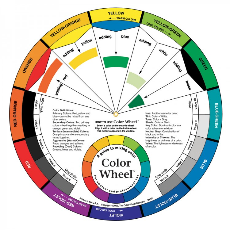 Color Wheel Company : Large Color Wheel 9 1/4 inch diameter