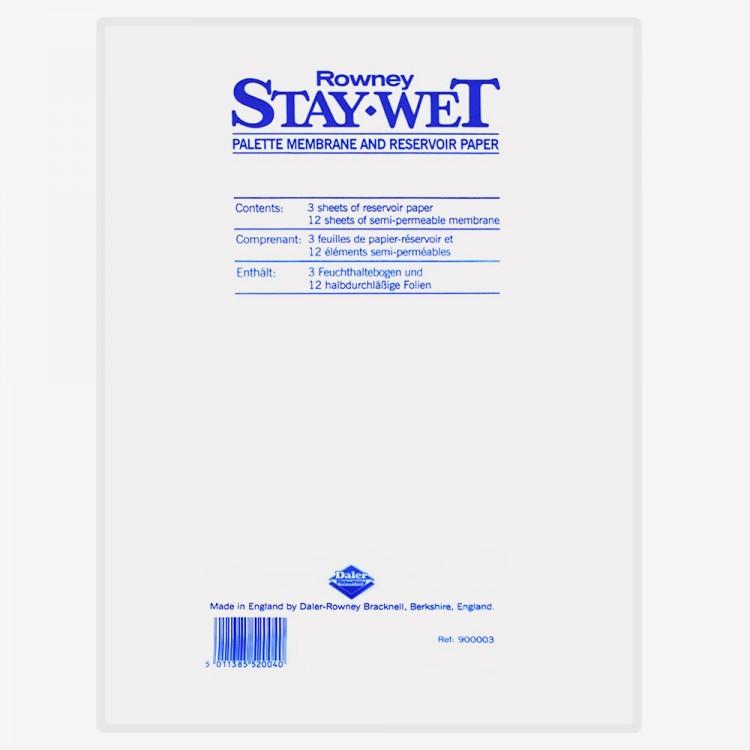 Daler Rowney: Stay Wet Palette REFILL-Pack groß 20x11in