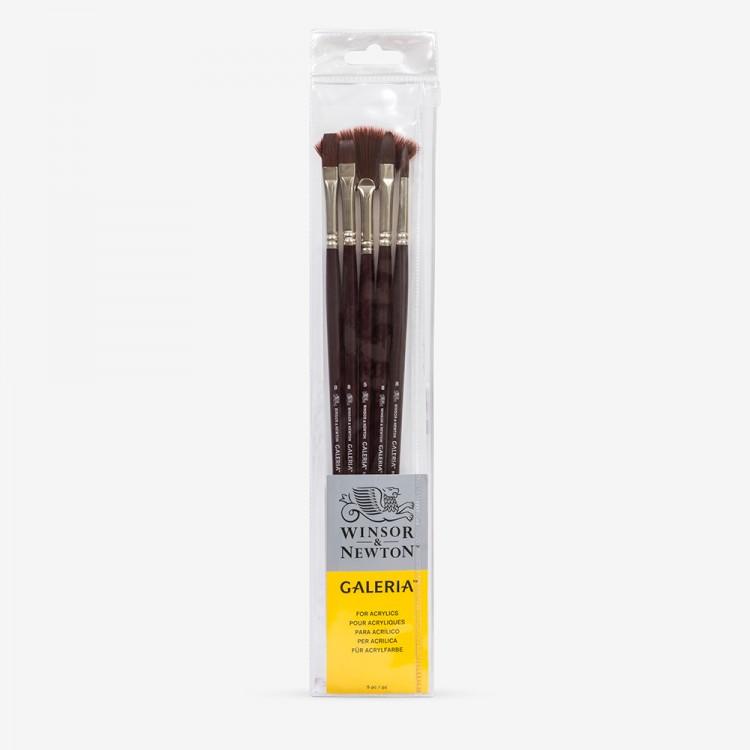 Winsor & Newton : Galeria : Acrylic Brush : Set of 5