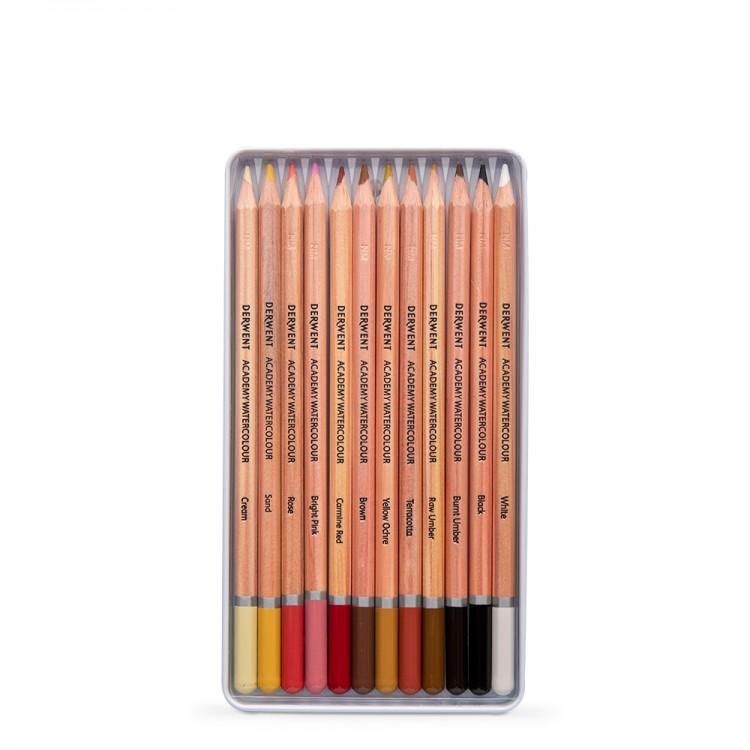 Derwent: Akademie Aquarell Hauttöne 12 Tin
