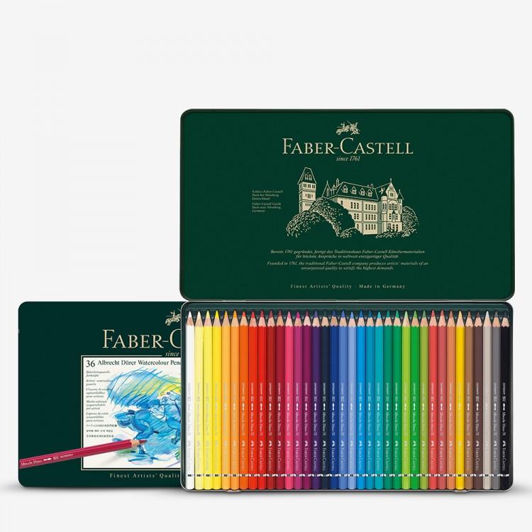 Faber Castell Albrect Durer Aquarell Bleistift Set von 36 in der Metall-Dose
