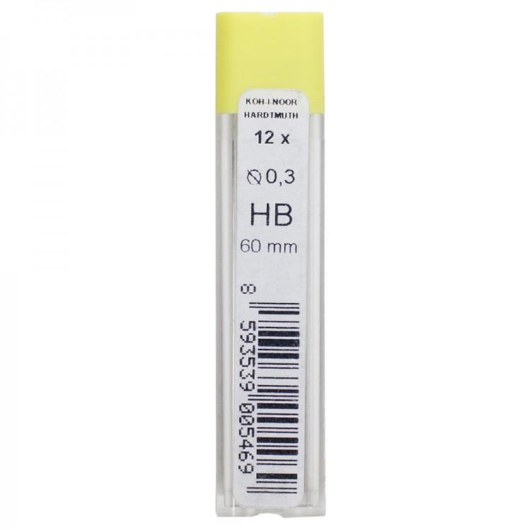 Koh-I-Noor: 12-fach feine Graphit führt 0,3 mm ø 60mm lange 4132 HB