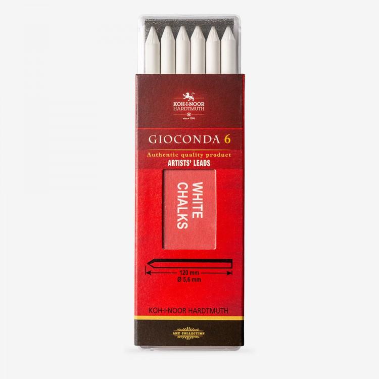 Koh-I-Noor: 5,6 mm führen: 6 x weiße Zeichnung Kreide 120mm lange 4371